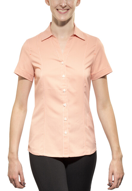 Jack Wolfskin Kepler Kurzarmshirt Damen koi orange checks